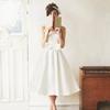 いつかは着たい!レトロ可愛いミモレ丈ウェディングドレス